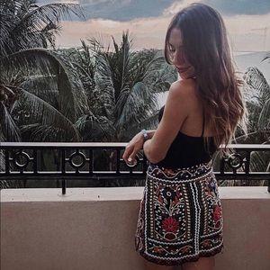 Showpo embroidered mini skirt